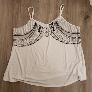 Torrid embroidered knit swing cami.